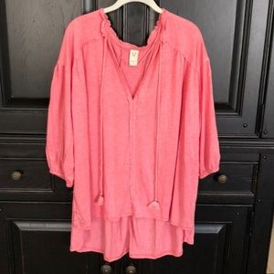 Oversized Pink Free People top